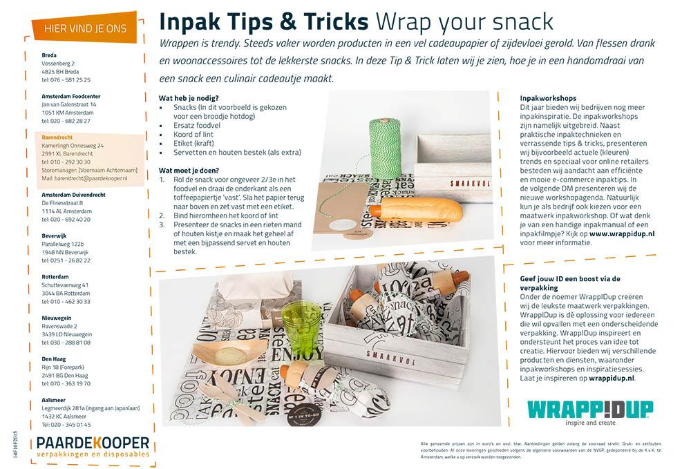 inpaktips en tricks wrap your snack