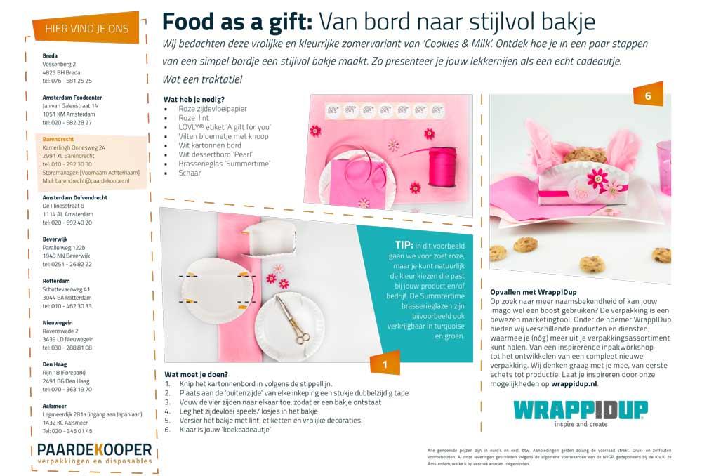 food as a gift: van bord naar stijlvol bakje