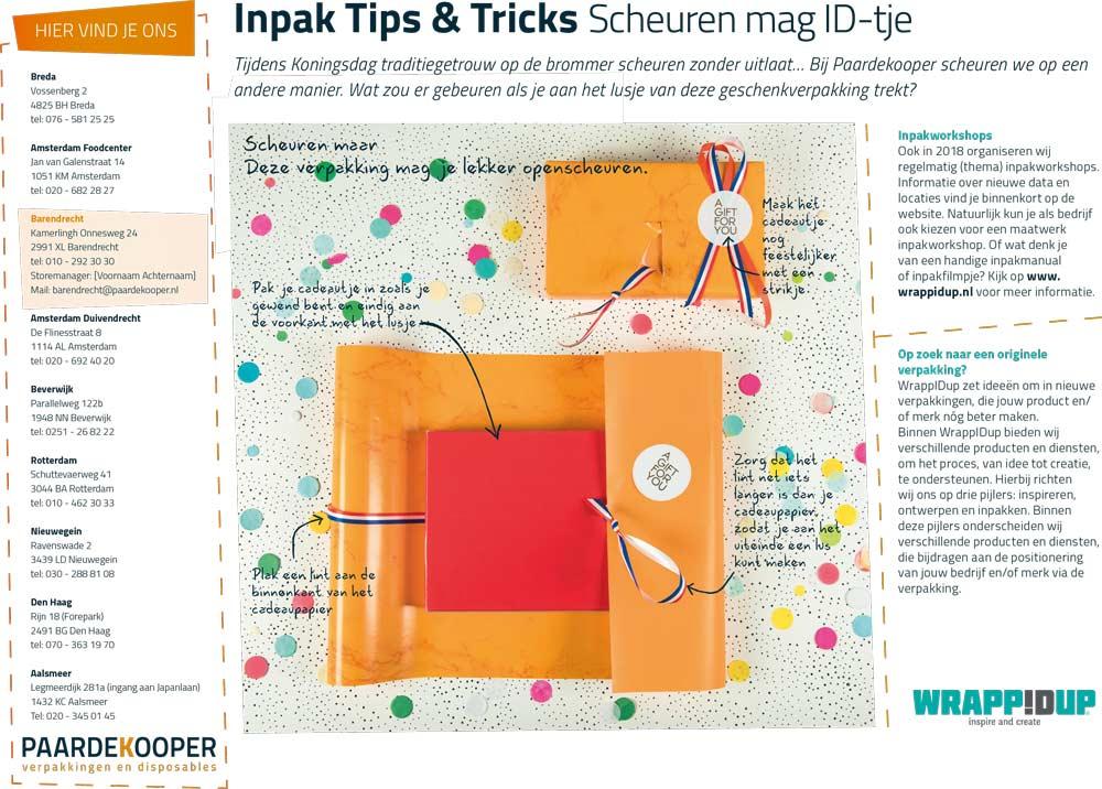Inpaktips & Tricks Scheuren mag ID-tje